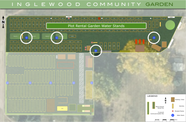 2019 Plot Rental Garden Water Stands in the ICG